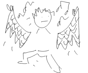 bird and man w/no torso dance