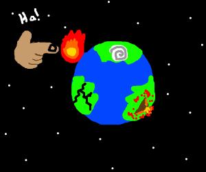 Jesus Torments Planet Earth