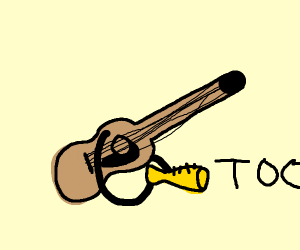 An guitar playing the trompet