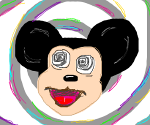 mickey mouse is trippin balls