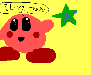 KIRBY LIVES IN A COUNTRY SHAPED LIKE A STAR??