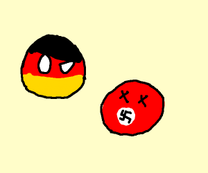 a nazi ball and a germany ball
