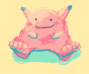 Pink Pikachu has f e e t