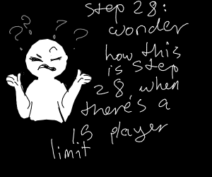 step 27: do not look behind yourself
