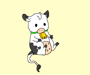 Something about a cow? i have no idea tbh