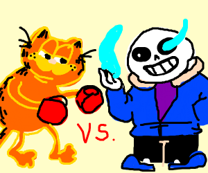 Garfield Kicks Sans In The Shin Drawception