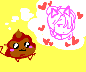 poop thinks about anime cat girl