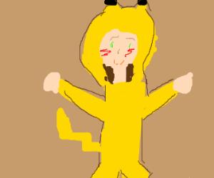 guy with pikachu onezie