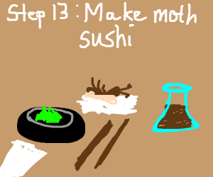 Step 12: Moths attack you