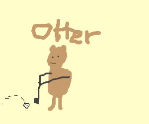 Otter Golfing
