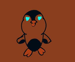 Lovestruck penguin
