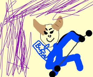 minotaur on a benchpress