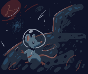 cute mouse in space :)