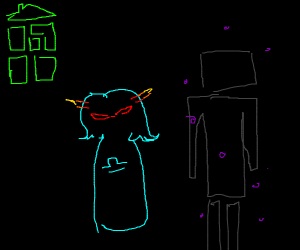 terezi hanging out with an enderman