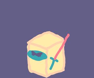 a white box as a ninja