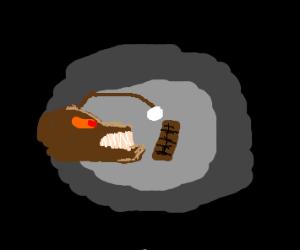 Angler Fish sees a chocolate bar