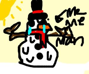 Snowman Meme man