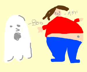 A ghost patronizes your obese mother