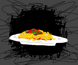 Weird spaggetti blackhole thing
