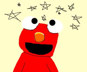 elmo enjoying stars