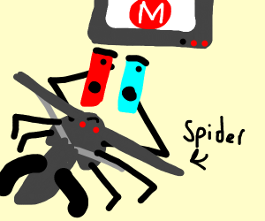 a damon spider playing games w/Switch
