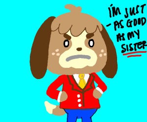Digby is the Luigi of Animal Crossing