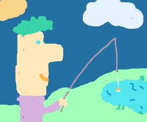 Ferb fishing
