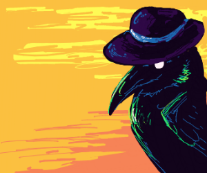 Hatted Crow