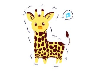 Giraffe in the artic; freezing
