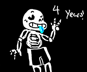 happy 4th anniversary undertail