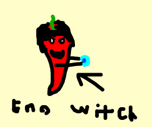 Emo dark witch red hot chilli