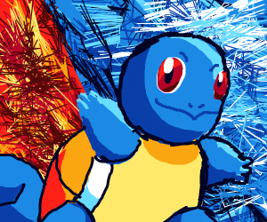 Cell shaded squirtle