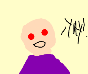 Little bald boy (not caillou) says yay