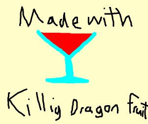 drink killing dragon fruit