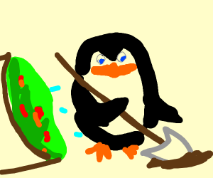 Digging penguins from guacamole