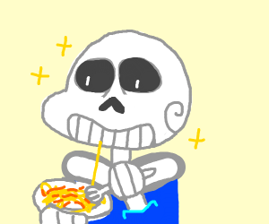 sans eating noodles and they are perfect