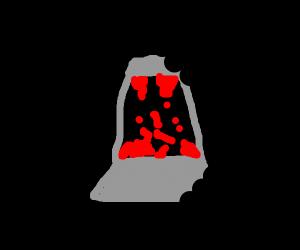 slightly eaten lava lamp