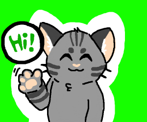 "anthro tabby-cat says ""hi"""