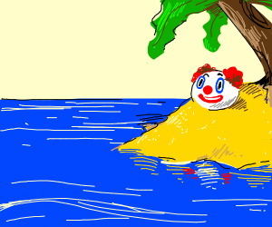 Clown on an Island