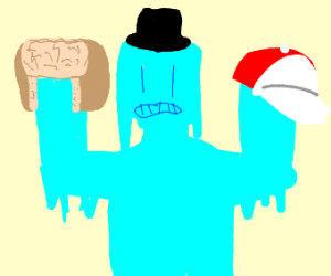 Frozen man with a hat