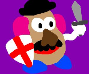 Potato Knight with a sword