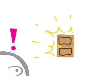 Suddenly, a generic door.