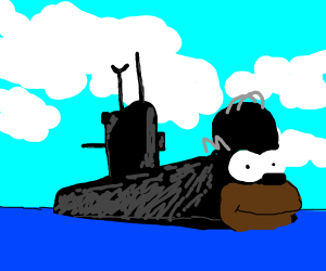 Homer Simpson is a Russian submarine