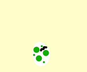 Cracked yoshi egg
