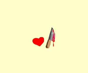 evil heart has a knife