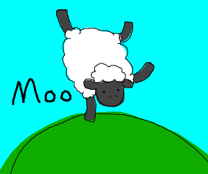 Sheep says Moo