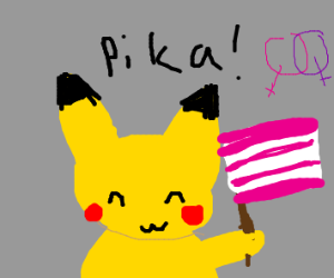 Pikachu supports lesbian rights