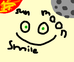 A Smile from the Sun to the Moon in Space