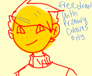 Free draw but with only primary colors