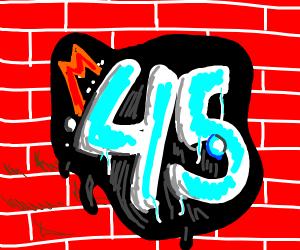 graffiti of 45